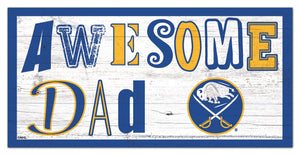 "Buffalo Sabres Awesome Dad Wood Sign - 6""x12"""