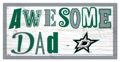 Dallas Stars Awesome Dad Wood Sign - 6