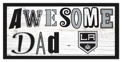 Los Angeles Kings Awesome Dad Wood Sign - 6