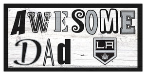 "Los Angeles Kings Awesome Dad Wood Sign - 6""x12"""