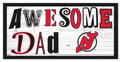 New Jersey Devils Awesome Dad Wood Sign - 6