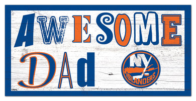 New York Islanders Awesome Dad Wood Sign - 6