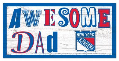 New York Rangers Awesome Dad Wood Sign - 6