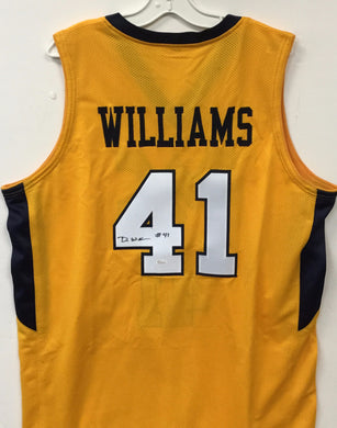wvu basketball, devin williams autograph, press virginia