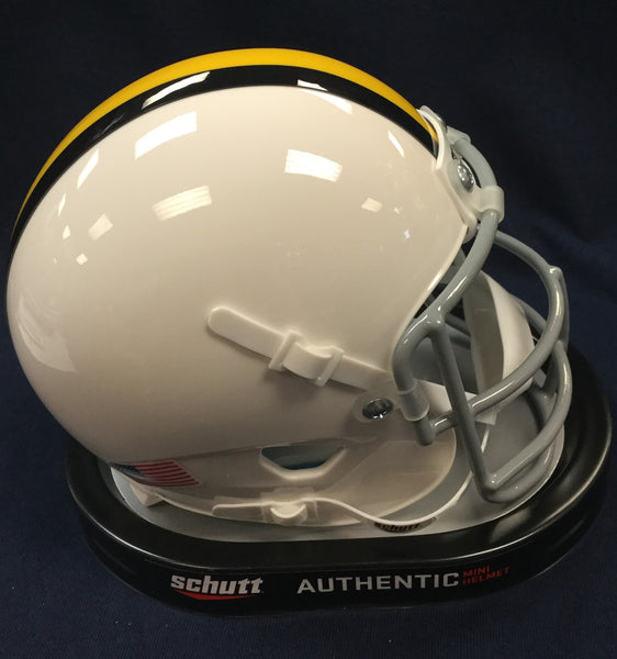 West Virginia Mountaineers 1966-69 Authentic Throwback Replica Mini Football Helmet