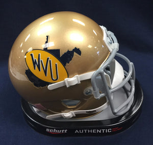 wvu football, 1974-78 mini helmet