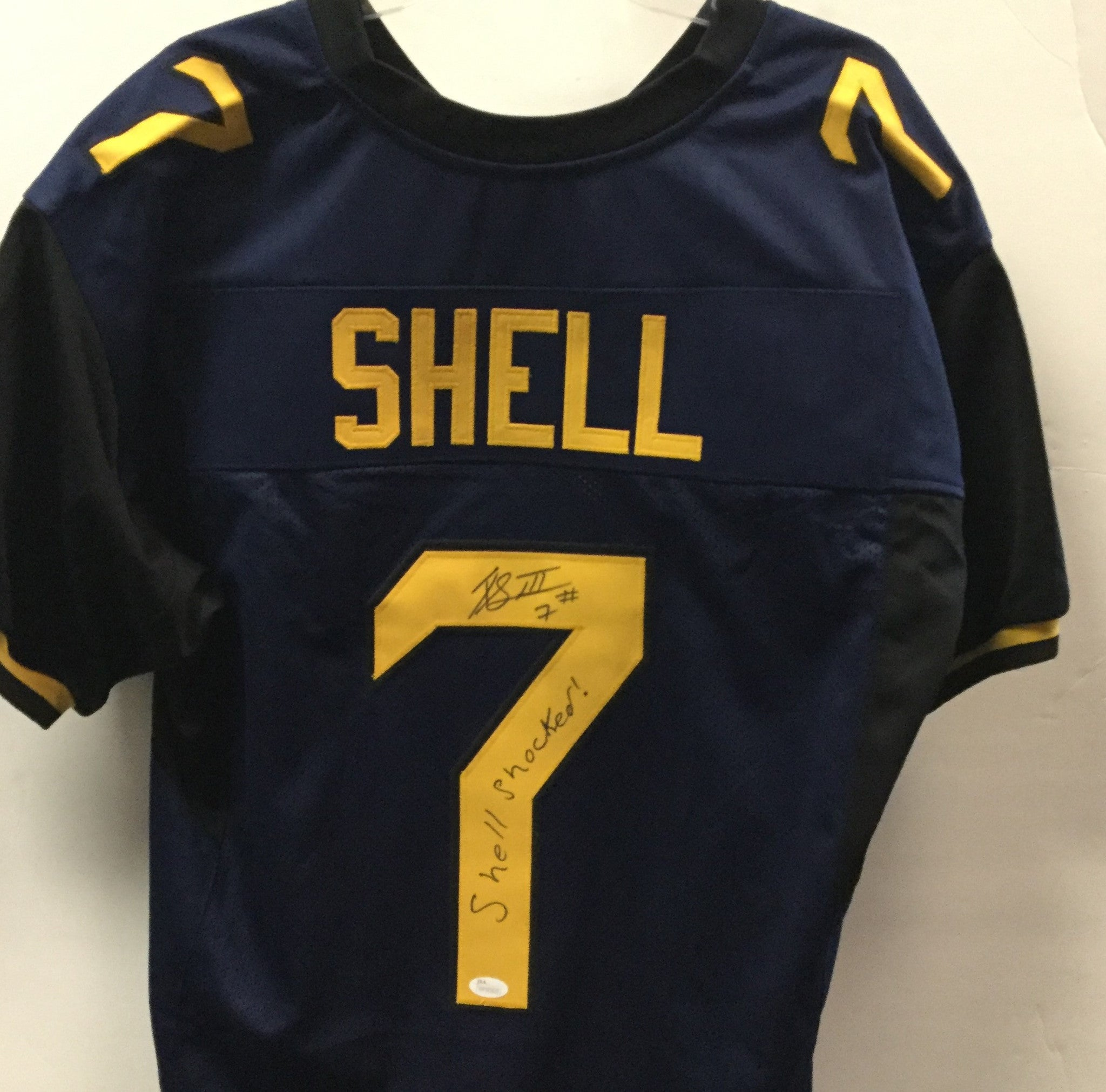 Rushel Shell West Virginia Mountaineers Signed Stitched Jersey ... 504f684a1