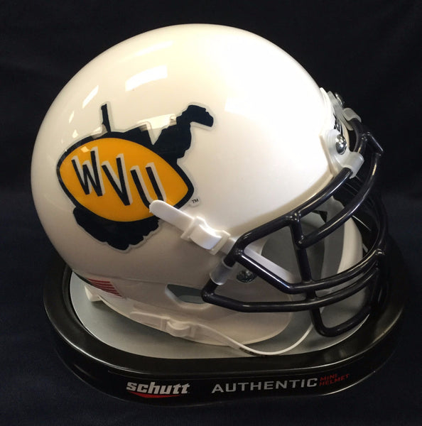 wvu football, wvu retro mini helmet , wvu throwback mini helmet