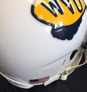 wvu football, wvu retro full size helmet, wvu throwback full size helmet