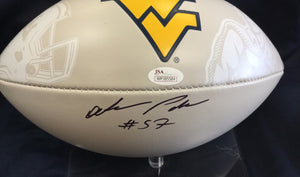 wvu football, adam pankey autographed football