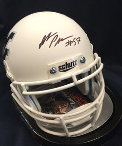 WVU collectibles Adam Pankey signed white mini helmet from Sports Fanz