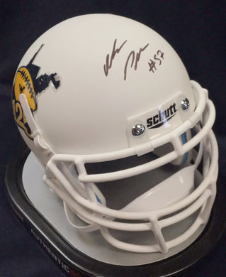 wvu football, adam pankey autograph, mini helmet