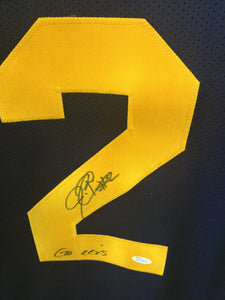 wvu football, jerry porter autograph