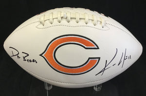 Kevin White Chicago Bears Signed Bears Logo Football JSA