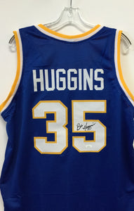 Bob Huggins West Virginia Mountaineer Signed WVU #35 Blue Basketball Jersey