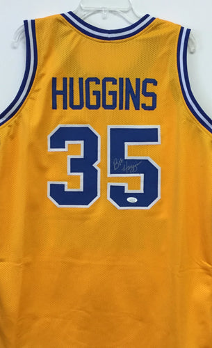 Bob Huggins West Virginia Mountaineer Signed WVU #35 Gold Basketball Jersey