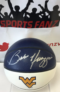 Bob Huggins West Virginia Mountaineers Autographed WVU Logo Basketball