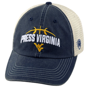 wvu basketball, press virginia, bob huggins, west virginia basketball hat