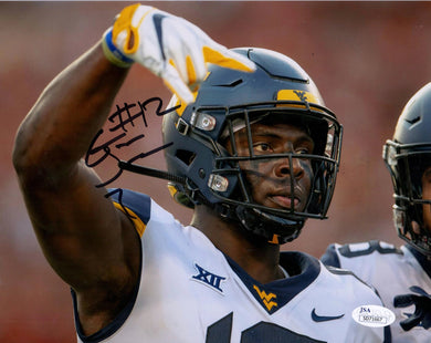 Gary Jennings Jr West Virginia Mountaineers Signed 8x10 Photo Horns Down