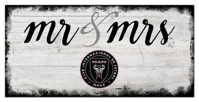 Inter Miami Mr. & Mrs. Script Wood Sign - 6