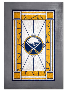Buffalo Sabres Stained Glass Wood Sign