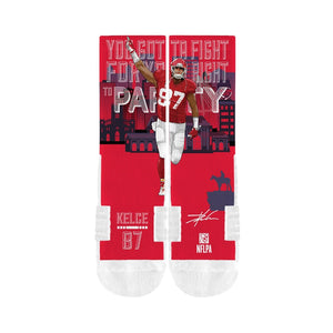 Travis Kelce Kansas City Chiefs World Party Crew Socks