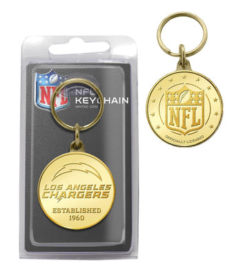 Los Angeles Chargers Bronze Coin Keychain