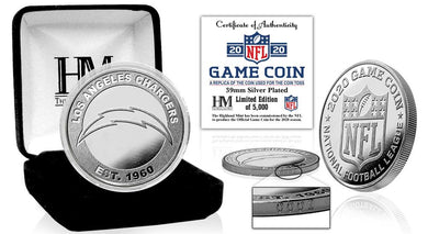 Los Angeles Chargers 2020 Silver Game Coin