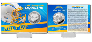 Los Angeles Chargers 2020 Team History Coin Card