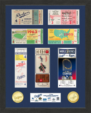 Los Angeles Dodgers World Series Ticket Collection