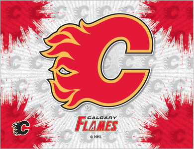 Calgary Flames Logo Canvas