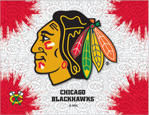 Chicago Blackhawks Logo Canvas
