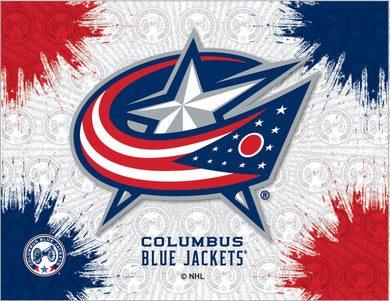 Columbus Blue Jackets Logo Canvas