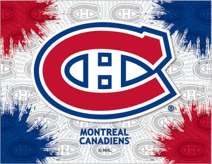 Montreal Canadiens Logo Canvas