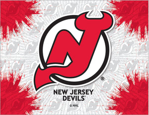 New Jersey Devils Logo Canvas