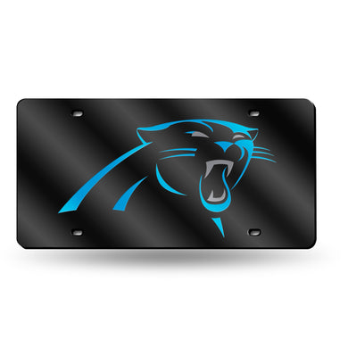 Carolina Panthers Black Logo  Laser Tag License Plate