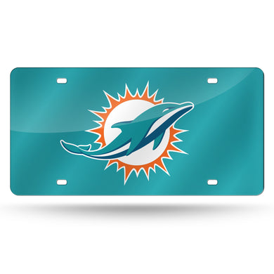 Miami Dolphins Teal Base  Laser Tag License Plate