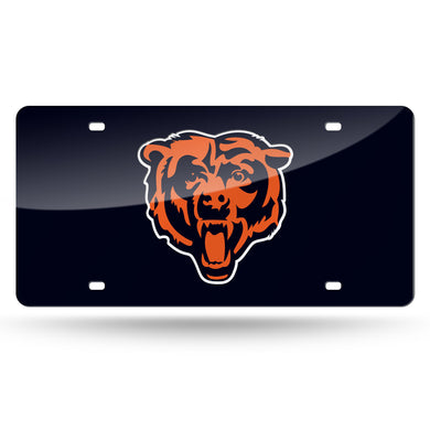 Chicago Bears Bear Head  Laser Tag License Plate