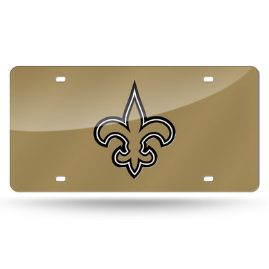 New Orleans Saints Gold  Laser Tag License Plate
