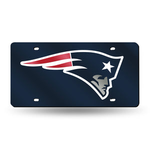 New England Patriots Navy  Laser Tag License Plate