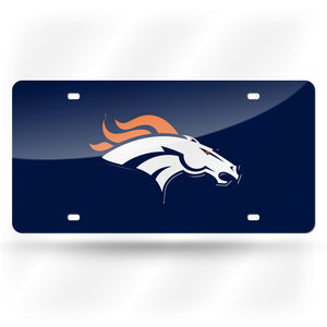 Denver Broncos Blue Base  Laser Tag License Plate
