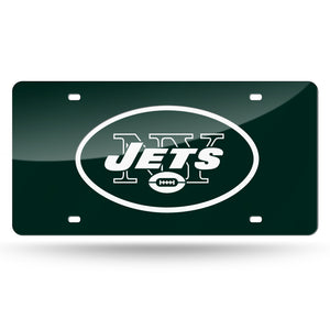 New York Jets Green  Laser Tag License Plate
