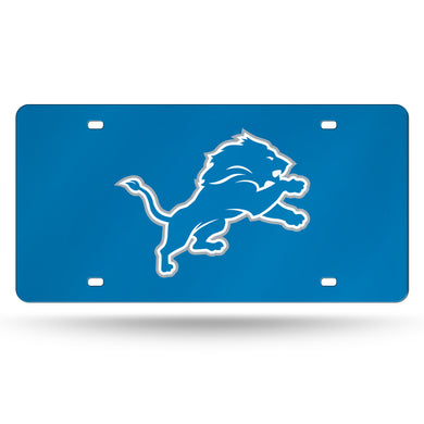 Detroit Lions Blue Laser Tag License Plate