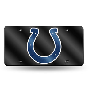 Indianapolis Colts Black  Laser Tag License Plate