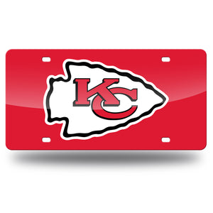 Kansas City Chiefs Red Mirror Laser Tag License Plate