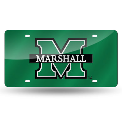 Marshall Thundering Herd Green Chrome Laser Tag License Plate