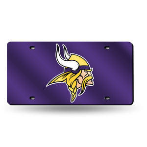 Minnesota Vikings Silver Laser Tag License Plate