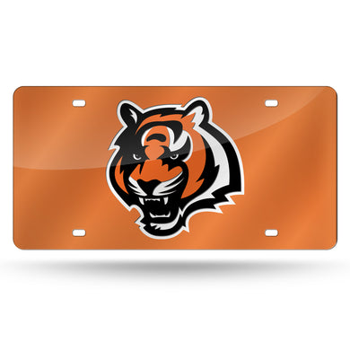 Cincinnati Bengals Orange Head Logo Laser Tag License Plate