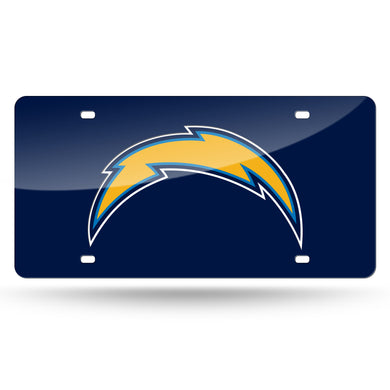 Los Angeles Chargers Blue Laser Tag License Plate