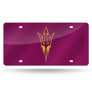 Arizona State Sun Devils Red Chrome Laser Tag License Plate